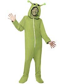 Little green man child costume