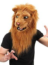 Löwenmaske mit beweglichem Mund