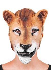 Löwin Halbmaske aus Latex