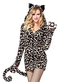Lovely Leopard Hoodie Dress