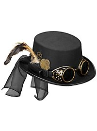 Low Steampunk top hat with glasses