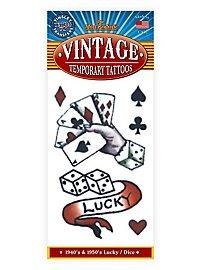 Lucky Vintage Klebe-Tattoo
