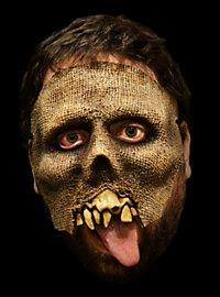 Lumpen-Zombie Halbmaske aus Latex
