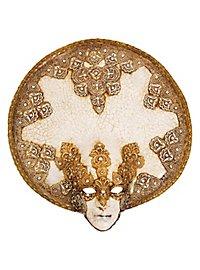Luna Piena craquele macrame Venezianische Maske