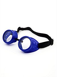 Lunettes de soudeur steampunk bleues