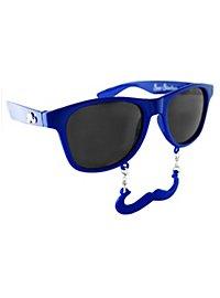 Lunettes fantaisie Sun Staches bleu marine