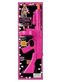 Mafia Maschinenpistole pink Spielzeugwaffe mit Sound