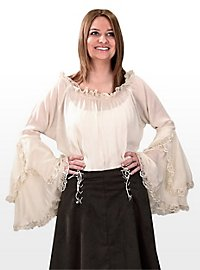 Maiden Blouse with Trumpet Sleeves