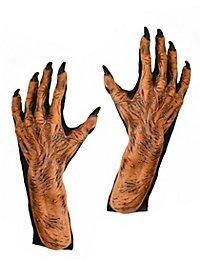 Mains de monstre citrouille en latex