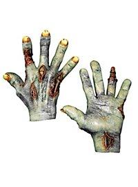 Mains de mort-vivant bleues