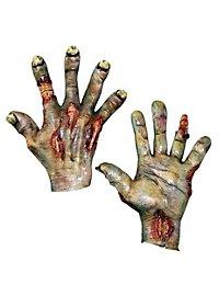 Mains de mort-vivant vertes