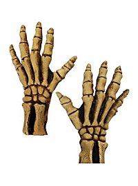 Mains de squelette jaunes