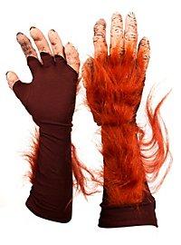 Mains d'orang-outan