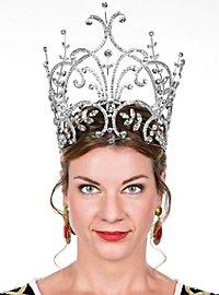 Majestic Tiara with Rhinestones silver