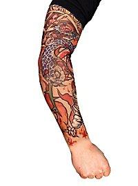 Manche peau tatouée player
