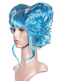 Manga blau Perücke
