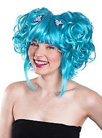 Manga blue Wig