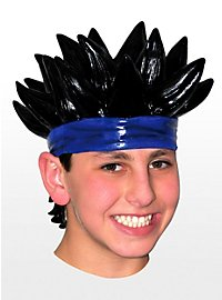Manga Boy Latex Wig black