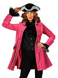 Manteau de pirate en velours rose