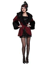 Manteau rouge et noir de garçonne