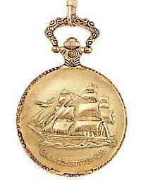 Marine Taschenuhr gold