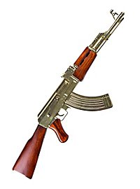 Maschinengewehr Kalashnikov AK47 vergoldet Dekowaffe