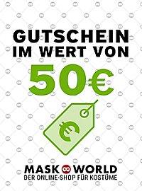 maskworld.com Geschenkgutschein 50,- Euro
