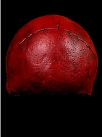 Masque crâne rouge en latex