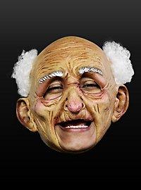 Masque d'âge heureux sans menton en latex