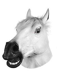 Masque de cheval blanc
