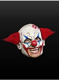 Masque de clown fou sans menton en latex