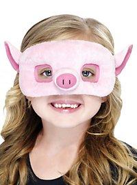 Masque de cochon en peluche pour enfant