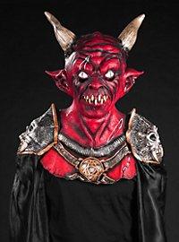 Masque de démon à cornes avec cape