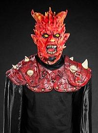 Masque de démon enflammé avec cape