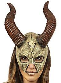 Masque de dieu cornu