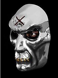 Masque de zombie argenté