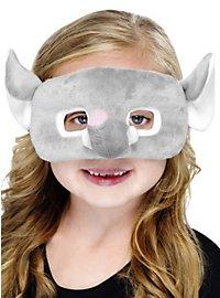 Masque d'éléphant en peluche pour enfant