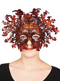 Masque en cuir - Baroque (marron)