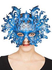 Masque en cuir - Obéron (bleu)