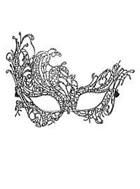 Masque en dentelle argenté antique