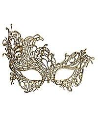 Masque en dentelle doré antique