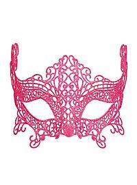 Masque en dentelle rose fluo
