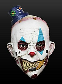 Masque Enfant de tête de clown ricanant en latex