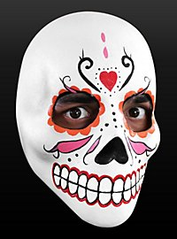 Masque le jour des morts en latex
