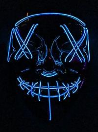 Masque LED d'Halloween bleu