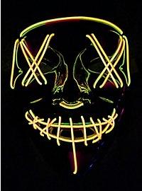 Masque LED d'Halloween jaune