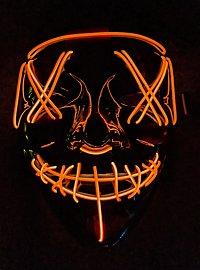 Masque LED d'Halloween orange