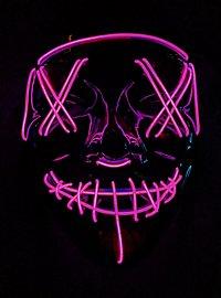 Masque LED d'Halloween rose