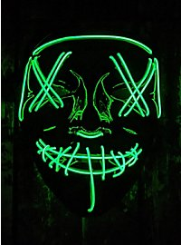 Masque LED d'Halloween vert fluo