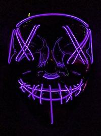 Masque LED d'Halloween violet